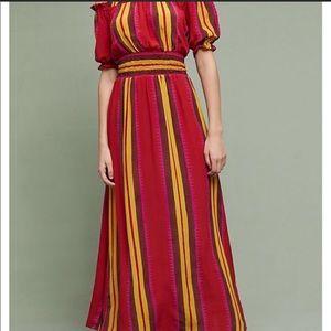 Anthropologie Silk Maxi Dress